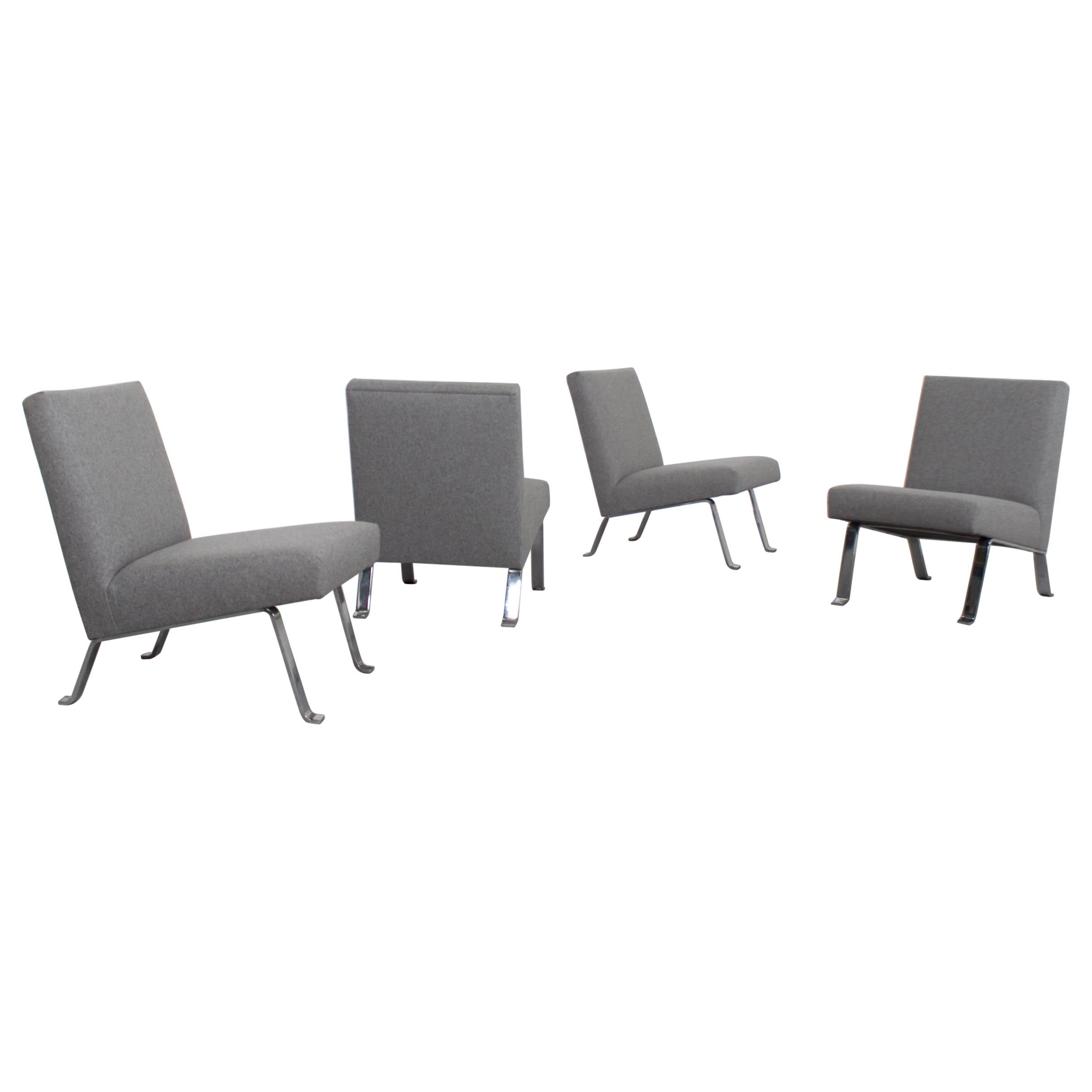 Four Chairs by Joseph Andre Motte, France, 1950s