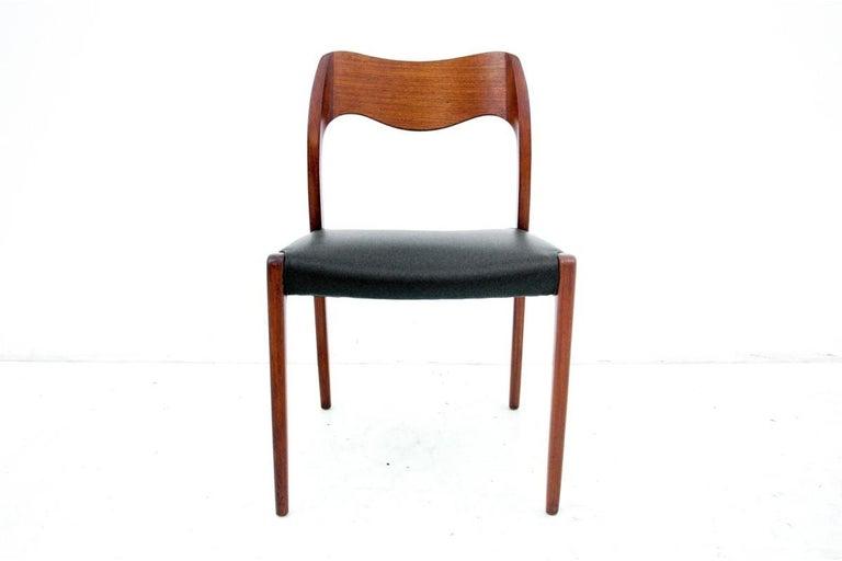 Danish Four Chairs, Niels O. Møller, Denmark, 1960s For Sale