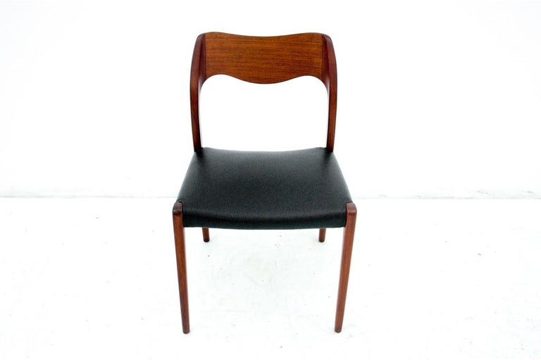 Four Chairs, Niels O. Møller, Denmark, 1960s In Good Condition For Sale In Chorzów, PL