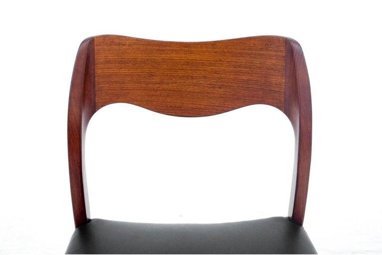 Mid-20th Century Four Chairs, Niels O. Møller, Denmark, 1960s For Sale