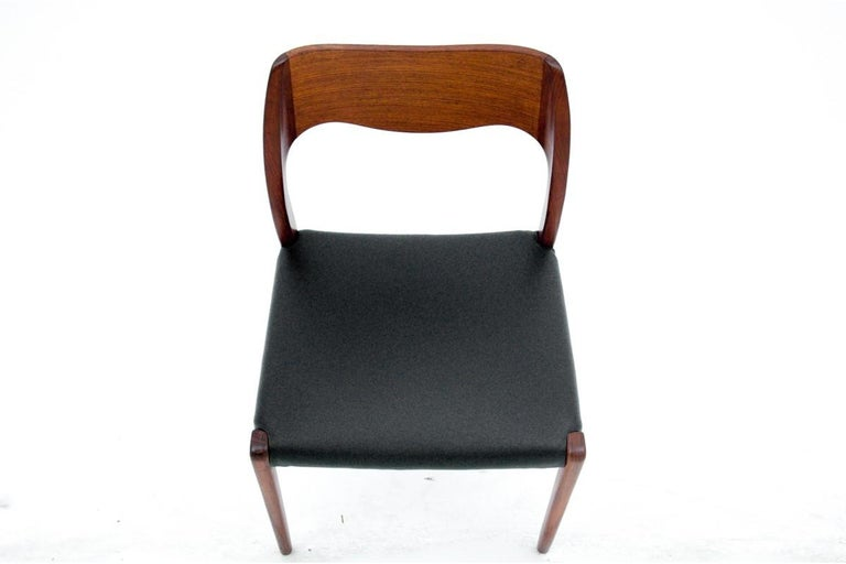 Leather Four Chairs, Niels O. Møller, Denmark, 1960s For Sale