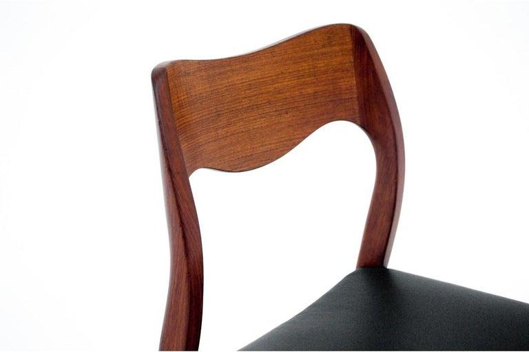 Four Chairs, Niels O. Møller, Denmark, 1960s For Sale 2