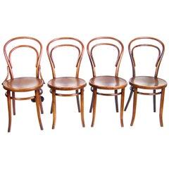 Four Chairs Thonet Nr.14, circa 1920
