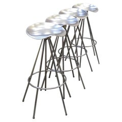 Four Chrome Jamaica Swivel Bar Stools by Pepe Cortes for Knoll