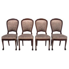 Four Classic Edwardian Antique Chairs
