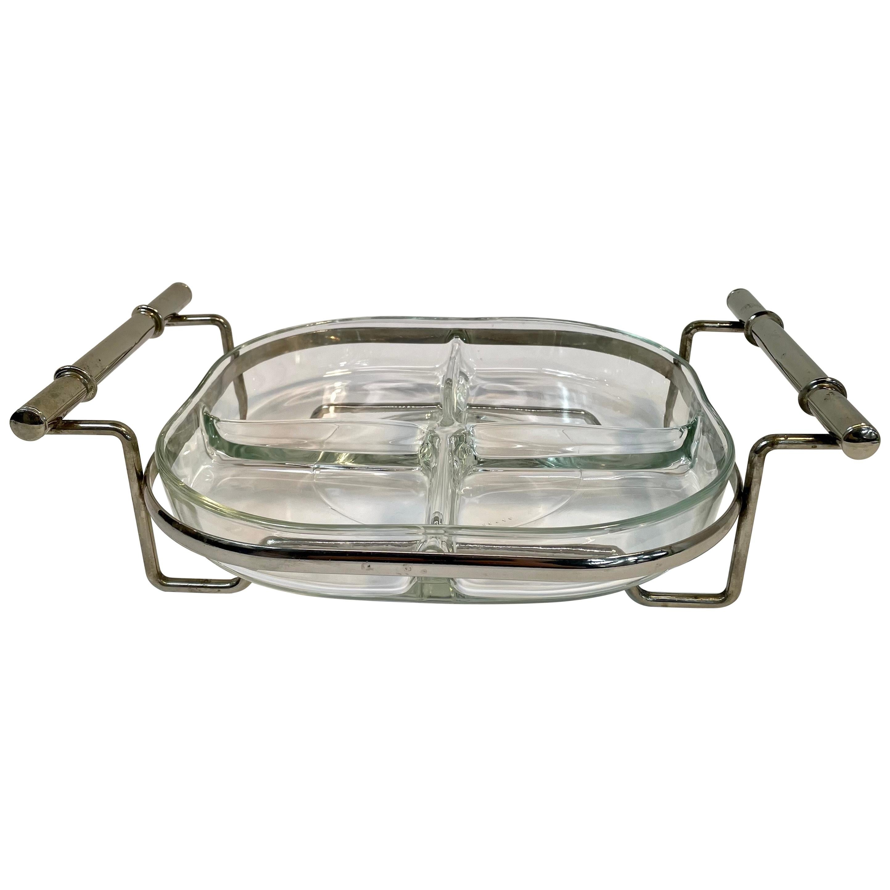 Four Compartment Faux Bamboo Serving Tray