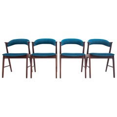 Four Danish Dining Chairs after Renovation