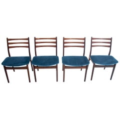Four Danish Dining Chairs after Renovation with Ladder Back