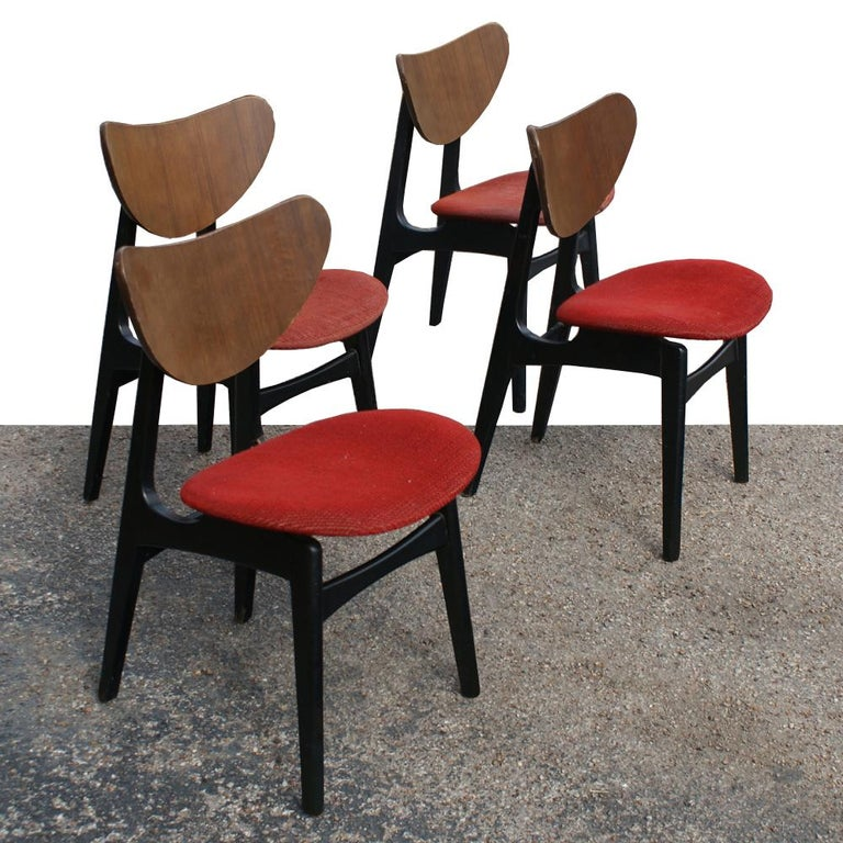 English Four Danish Style Dining Chairs By G Plan For Sale