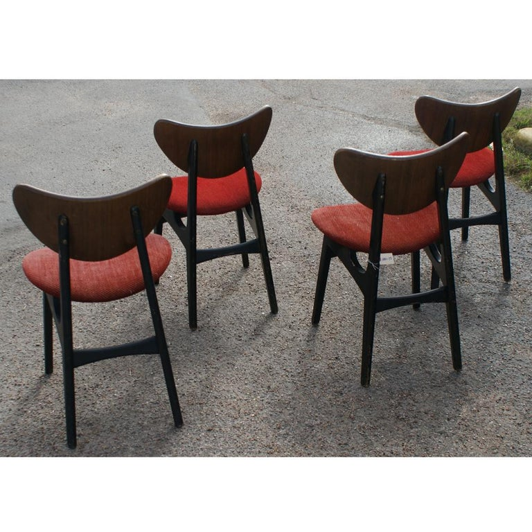 Four Danish Style Dining Chairs By G Plan In Good Condition For Sale In Pasadena, TX