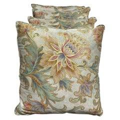Four Decorative Silk Pillows