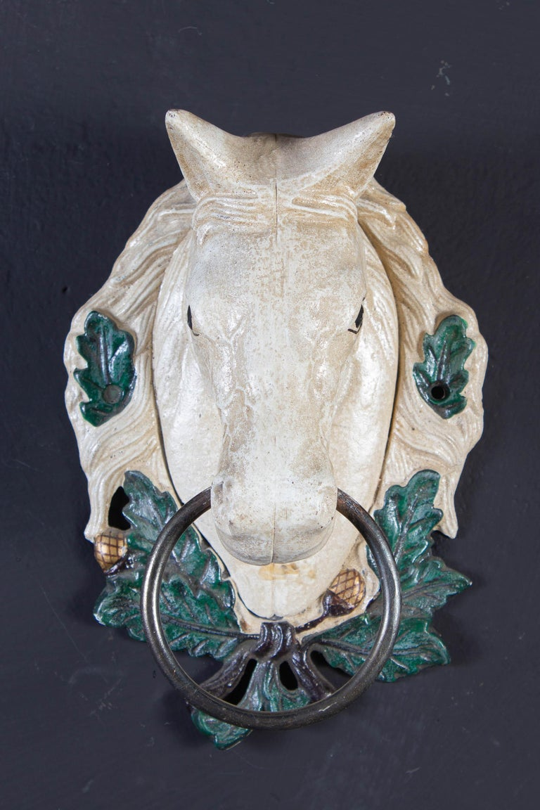 Four Delicious Painted Metal Horse Head Sculptures, 1970 In Good Condition For Sale In Rome, IT