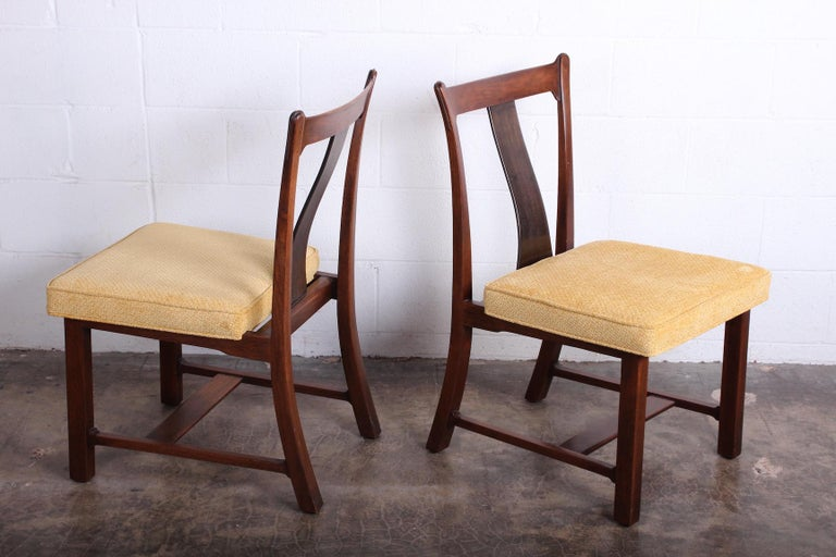 Four Dining Chairs by Edward Wormley for Dunbar In Good Condition For Sale In Dallas, TX