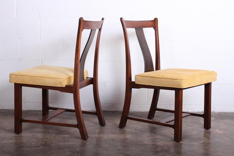 Mid-20th Century Four Dining Chairs by Edward Wormley for Dunbar For Sale