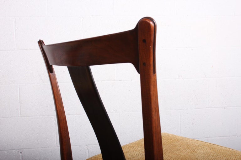 Four Dining Chairs by Edward Wormley for Dunbar For Sale 2