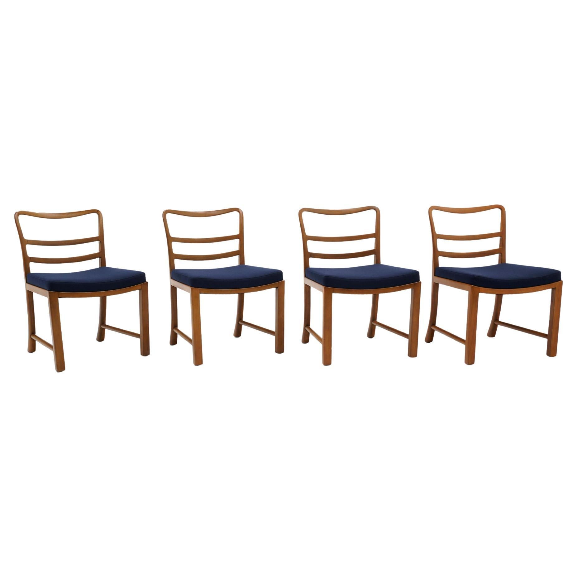 Four Dining Chairs by Edward Wormley for Dunbar