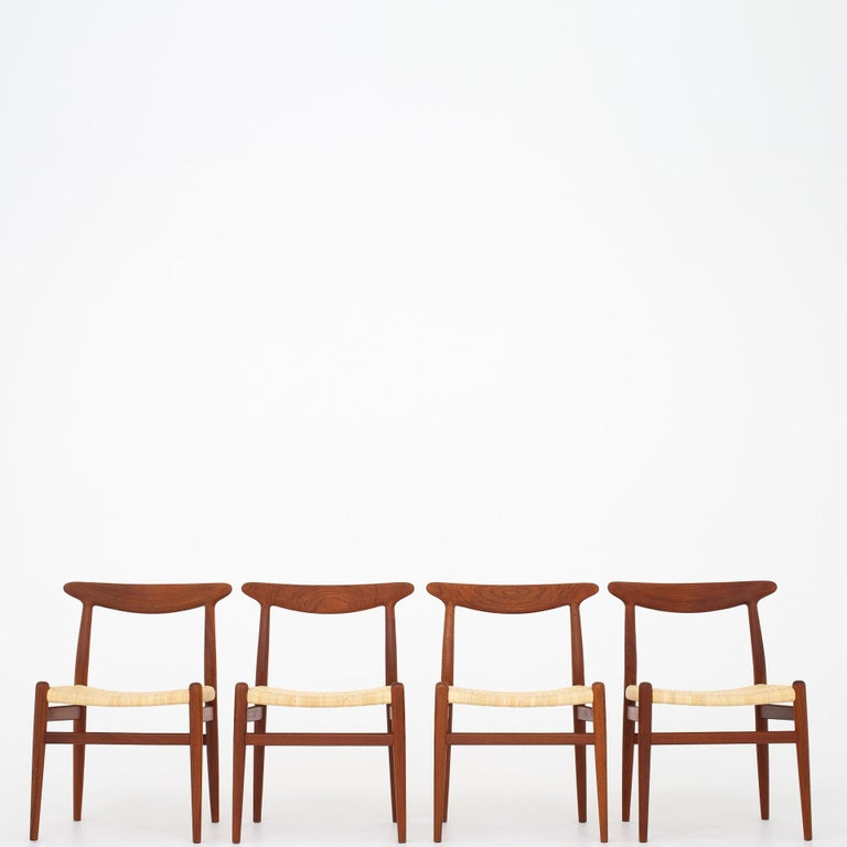 Four Dining Chairs by Hans J. Wegner For Sale 1