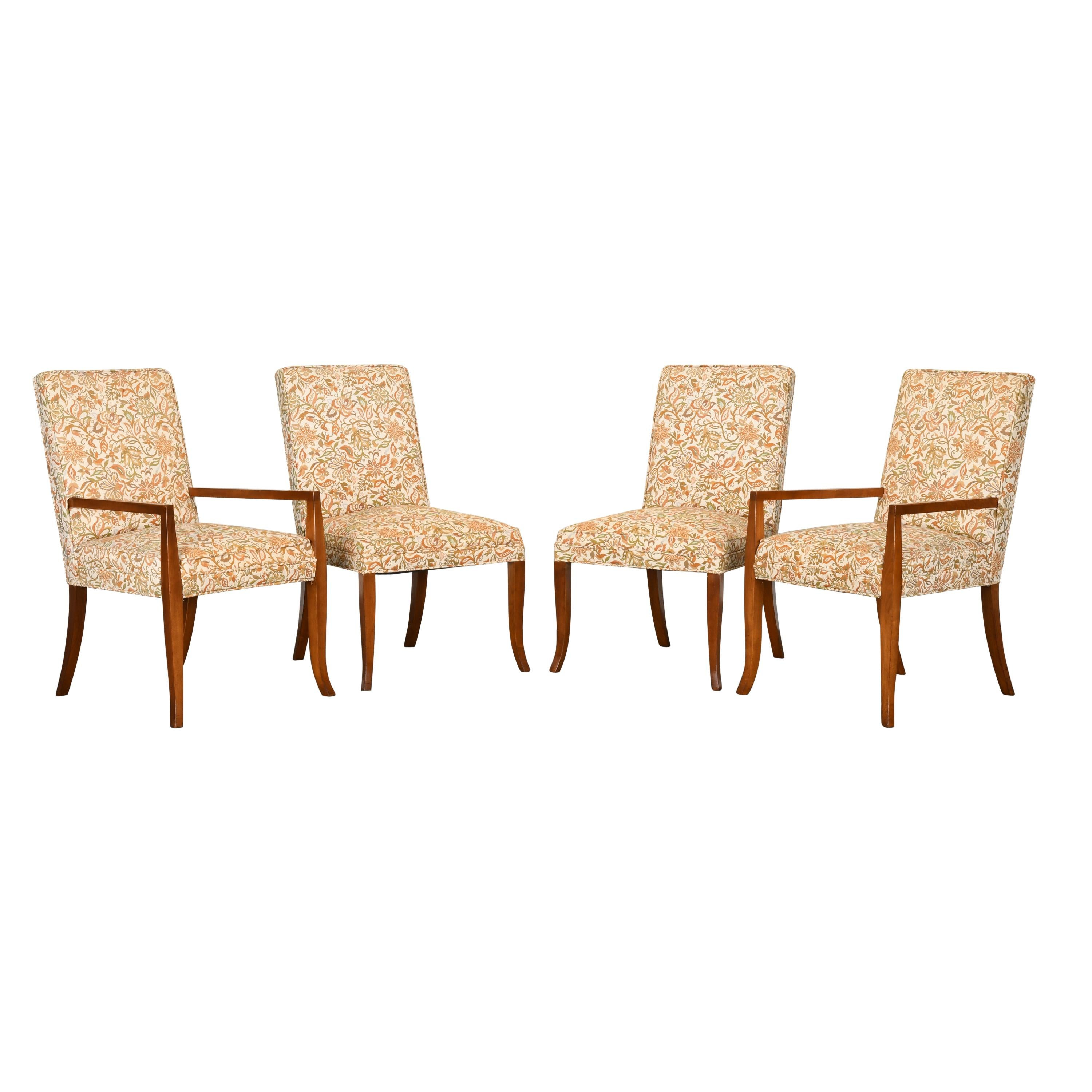 Four Dining Chairs by T.H. Robsjohn-Gibbings for Widdicomb, 1940s
