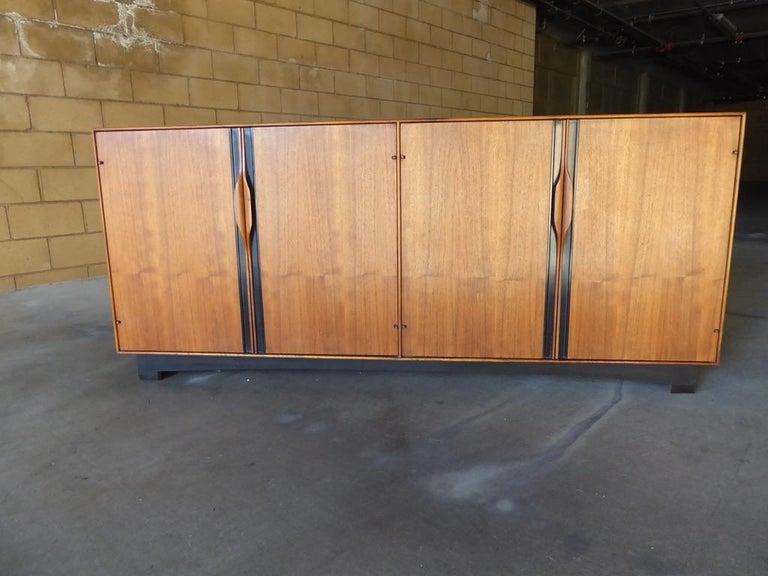 Carved Four-Door Cabinet Designed by John Kapel for Glenn of California For Sale