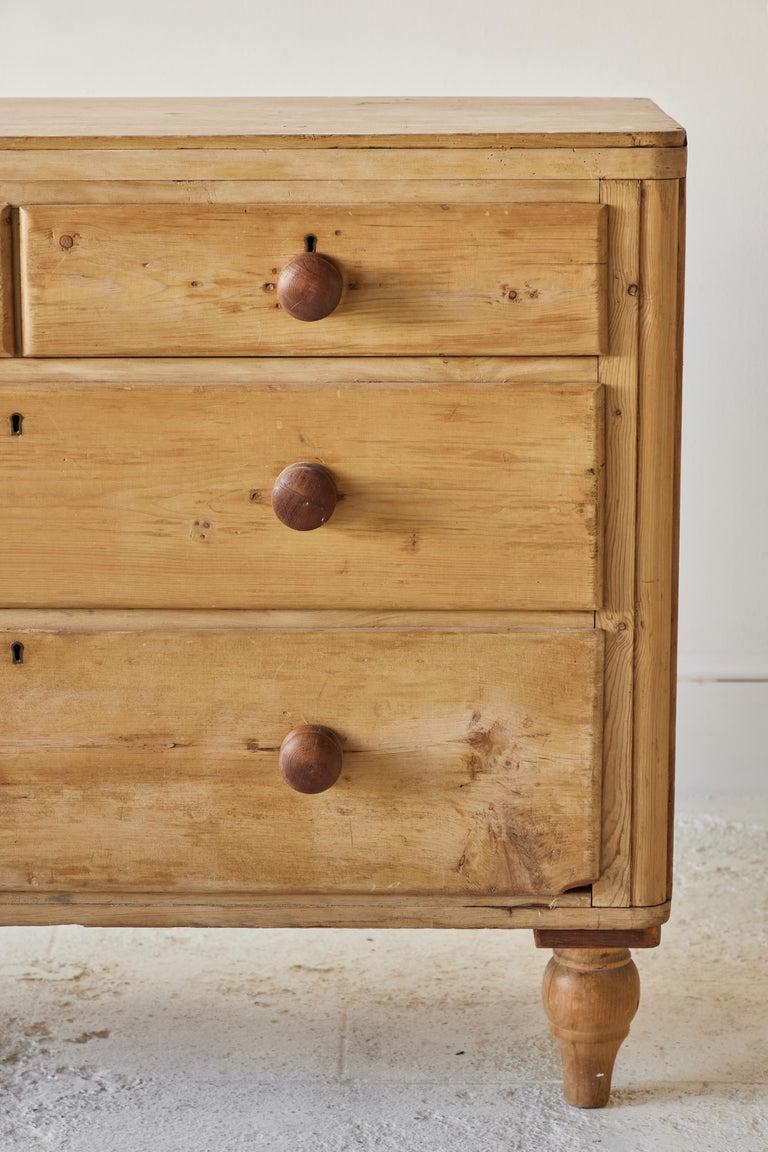 20th Century Four Drawer Pine Dresser  For Sale