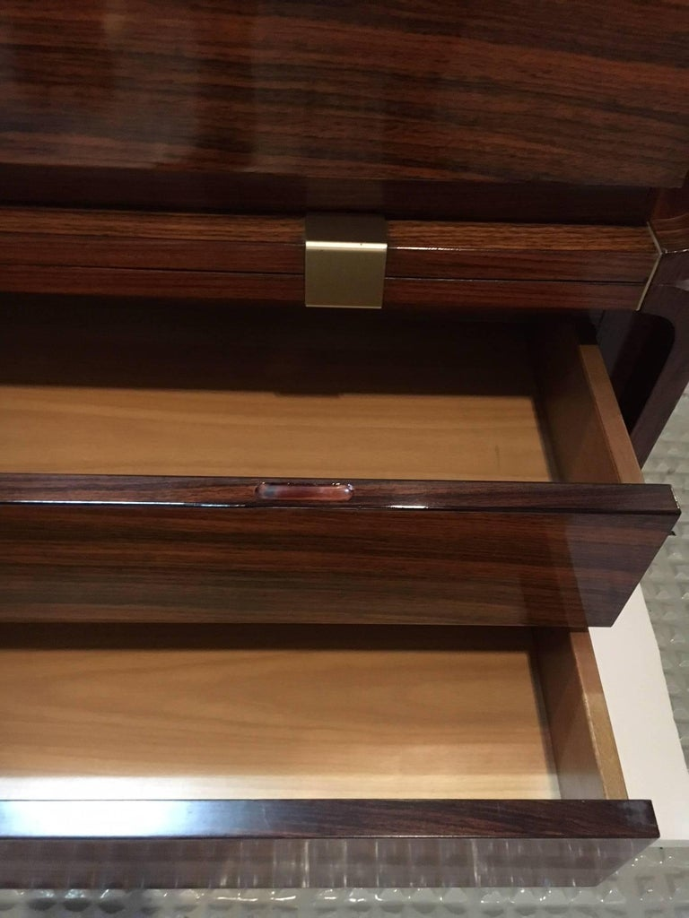 Four Drawers Mahogany Commode, Italy, circa 1940 In Excellent Condition For Sale In Saint-Ouen, FR