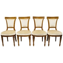 Four Drexel Heritage French Empire Regency Style Dining Side Chairs