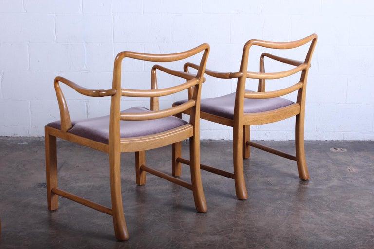Four Dunbar Armchairs by Edward Wormley For Sale 5
