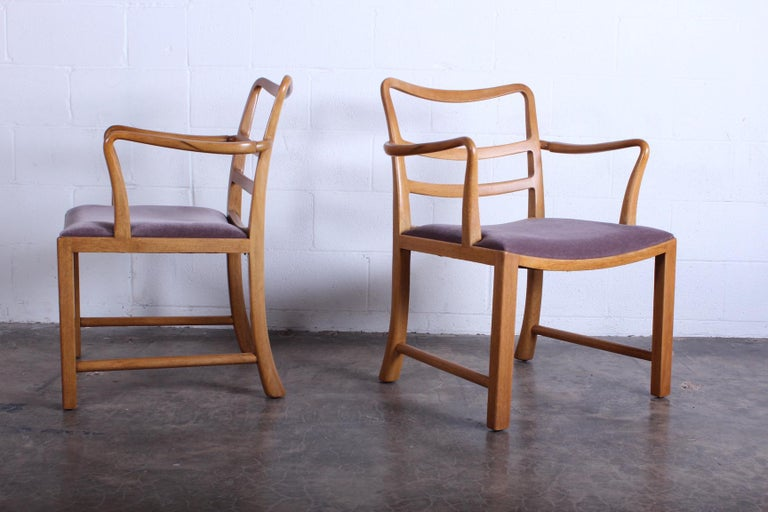 Four Dunbar Armchairs by Edward Wormley In Good Condition For Sale In Dallas, TX