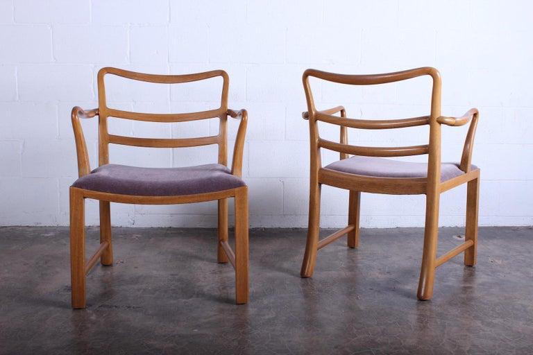Mid-20th Century Four Dunbar Armchairs by Edward Wormley For Sale