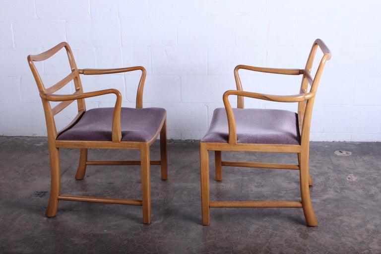 Four Dunbar Armchairs by Edward Wormley For Sale 4