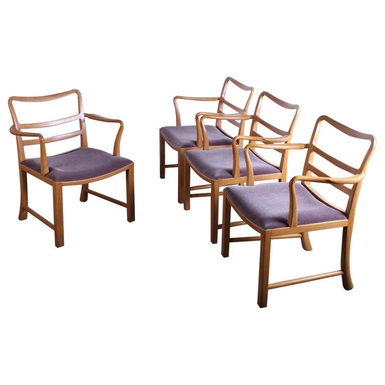 Four Dunbar Armchairs by Edward Wormley For Sale