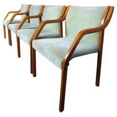 Four Early 1970s Dining Chairs in the Style of Preben Fabricius / Knoll