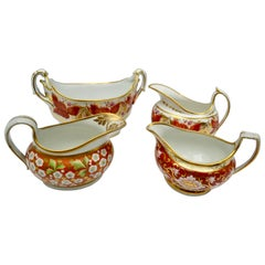 Four Early 19th Century English Porcelain Gravy or Sauce Boats