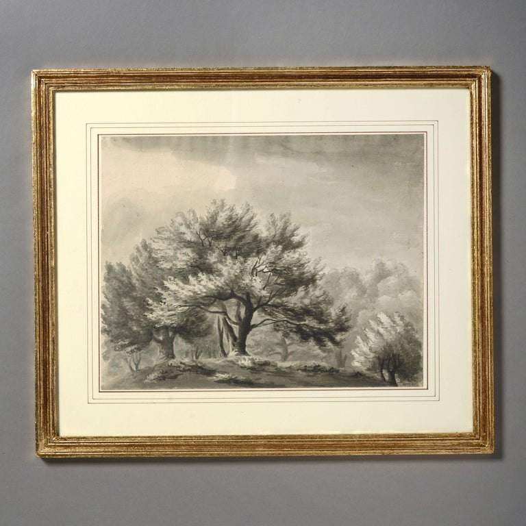 English Four Early 19th Century Regency Period Sepia Landscapes