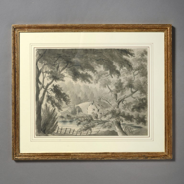 Four Early 19th Century Regency Period Sepia Landscapes In Good Condition In London, GB