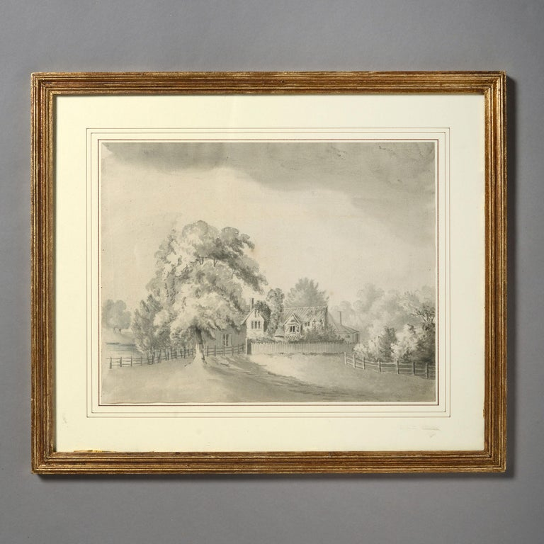 Four Early 19th Century Regency Period Sepia Landscapes 1