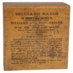 Four Early Brunswick Balke Collander Billiard Balls in Original Box