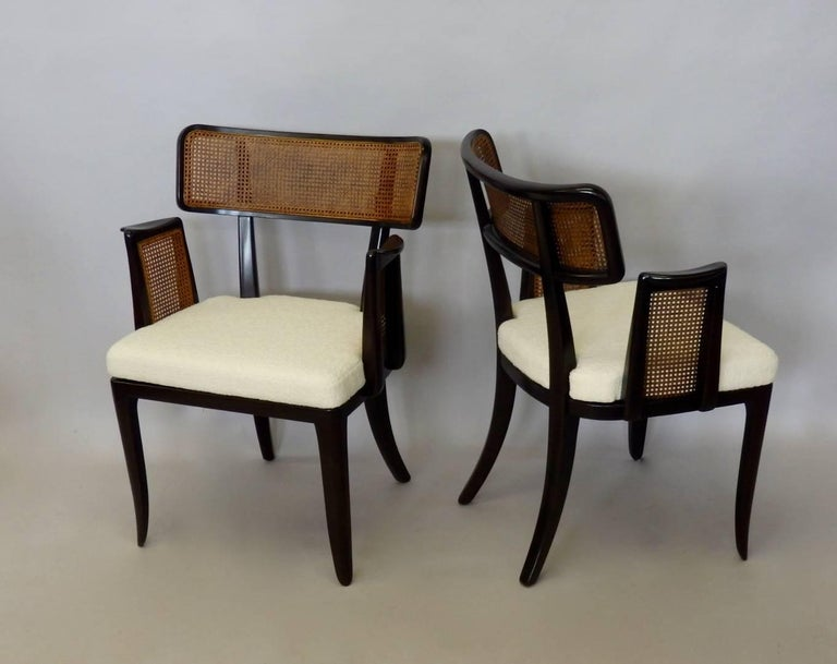 Mid-Century Modern Four Edward Wormley for Dunbar Dining Chairs For Sale