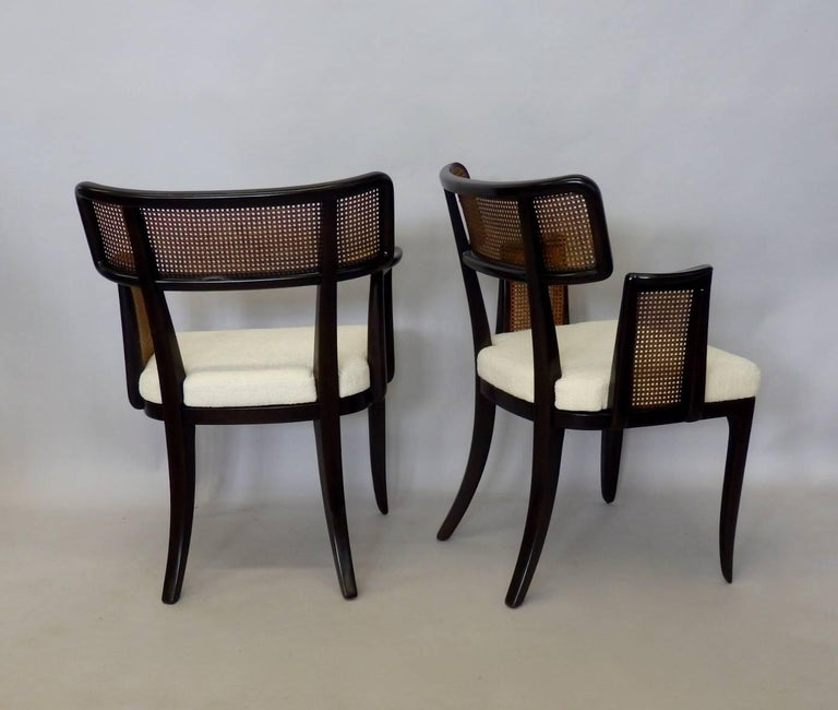 Four Edward Wormley for Dunbar Dining Chairs In Excellent Condition For Sale In Ferndale, MI