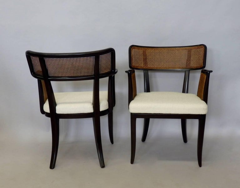 20th Century Four Edward Wormley for Dunbar Dining Chairs For Sale