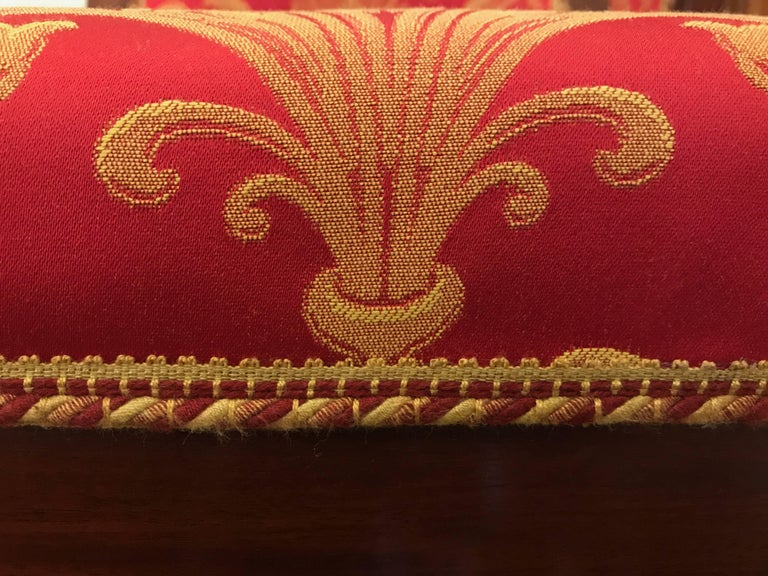 Four Italian Empire Style Chairs Mahogany with Ormolu Mounts  1970 Circa For Sale 10