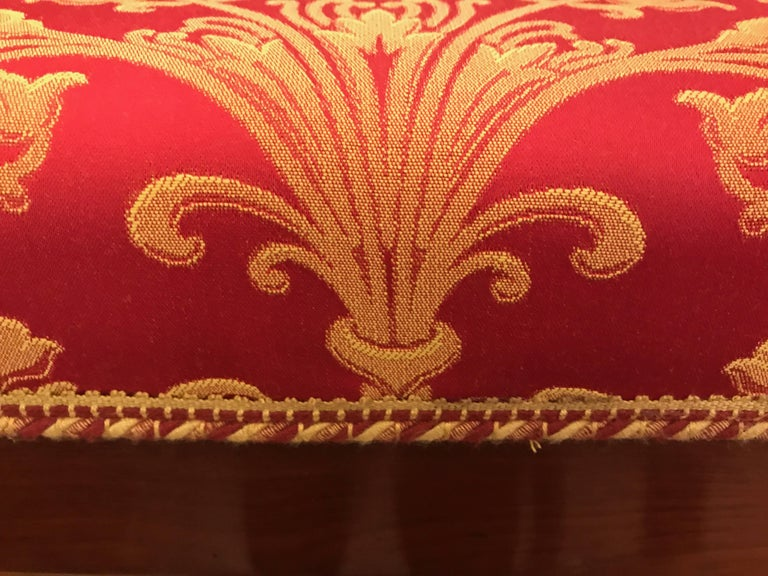 Four Italian Empire Style Chairs Mahogany with Ormolu Mounts  1970 Circa For Sale 12