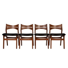 Four Erik Buck Dining Chairs