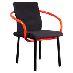 Four Ettore Sottsass Mandarin Chairs for Knoll in Red & Black