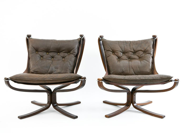 Four Falcon Chairs by Sigurd Ressell for Vatne Møbler For Sale 3