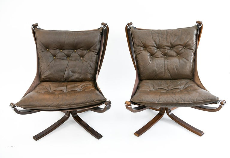 Four Falcon Chairs by Sigurd Ressell for Vatne Møbler For Sale 4