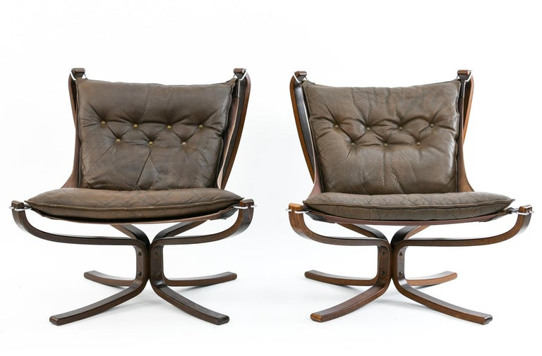 Four Falcon Chairs by Sigurd Ressell for Vatne Møbler For Sale 5