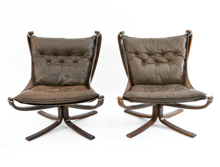 Four Falcon Chairs by Sigurd Ressell for Vatne Møbler For Sale 6