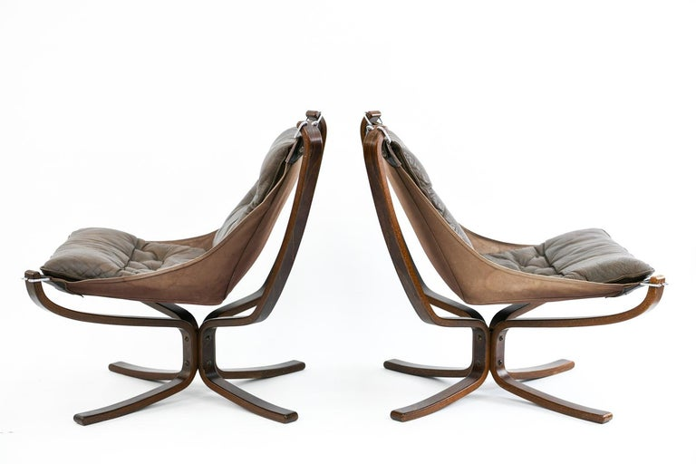 Four Falcon Chairs by Sigurd Ressell for Vatne Møbler For Sale 7