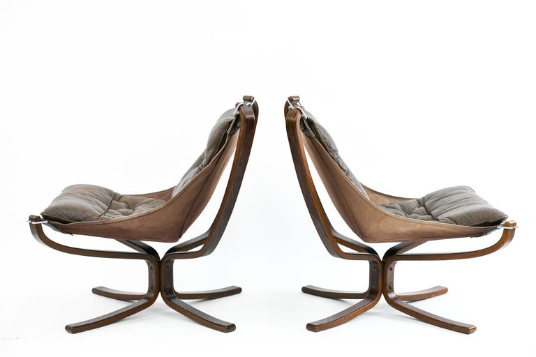Four Falcon Chairs by Sigurd Ressell for Vatne Møbler For Sale 8